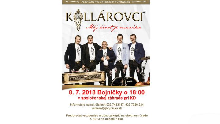 Vystúpenie hudobnej skupiny Kollárovci v Bojničkách