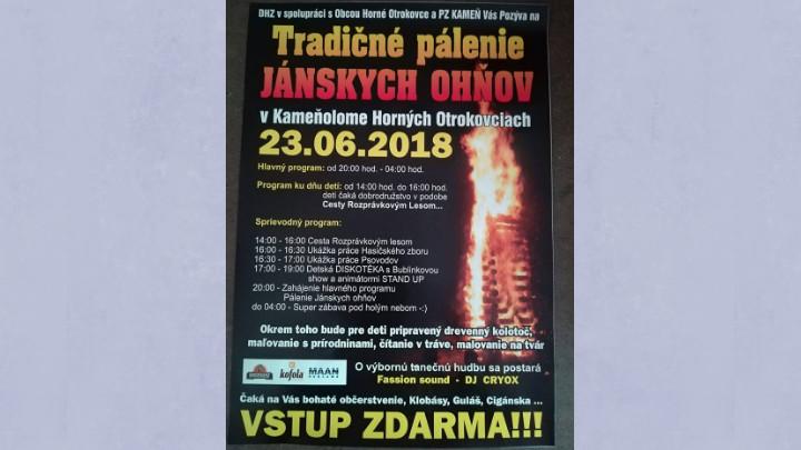 Tradičné pálenie Jánskych ohňov
