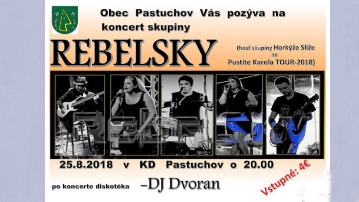 Koncert skupiny REBELSKY v Pastuchove