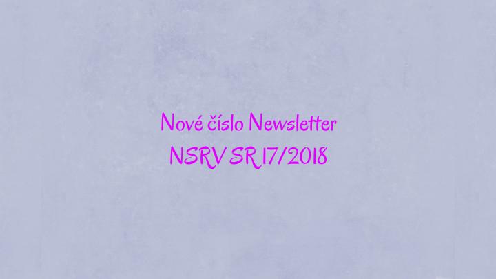 Newsletter Národnej siete rozvoja vidieka SR 17/2018