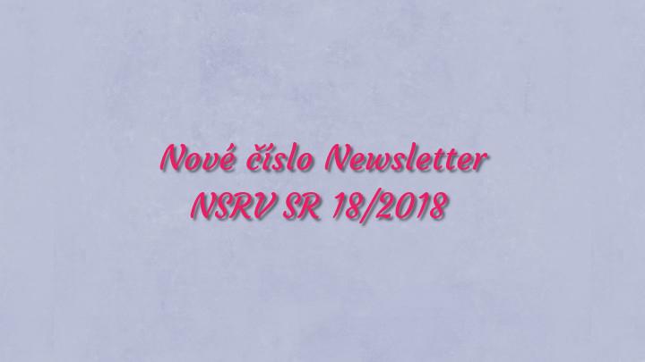 Newsletter Národnej siete rozvoja vidieka SR 18/2018