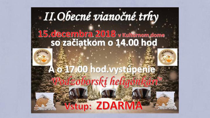 II. Obecné vianočné trhy v Pastuchove