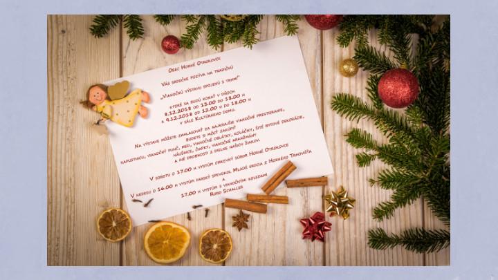 Vianočná výstava spojená s trhmi v Horných Otrokovciach