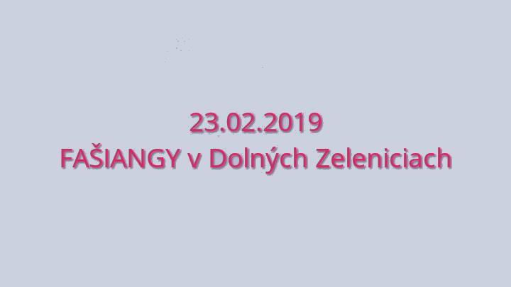 Fašiangy v Dolných Zeleniciach 23.2.2019