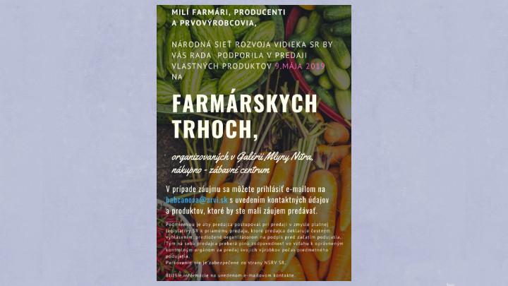 Farmárske trhy 09.05.2019 Nitra