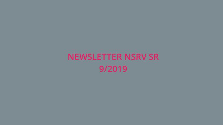 Newsletter Národnej siete rozvoja vidieka SR 9/2019